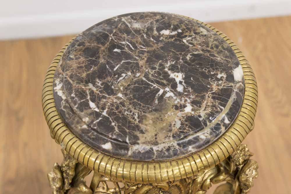 Pair Louis XV Style Gilt Brass Pedestals - 2