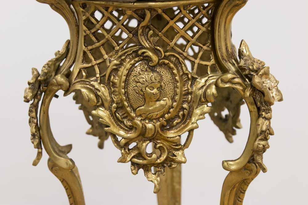 Pair Louis XV Style Gilt Brass Pedestals - 3