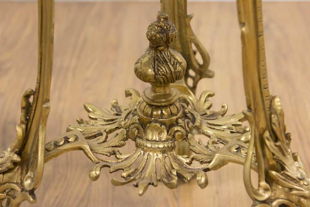 Pair Louis XV Style Gilt Brass Pedestals - 4