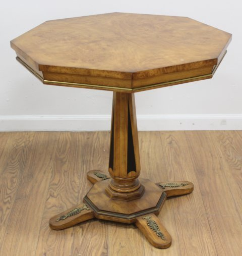 Burlwood Octagonal Bronze Mounted Table