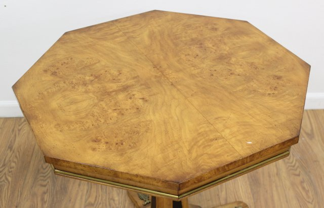 Burlwood Octagonal Bronze Mounted Table - 2