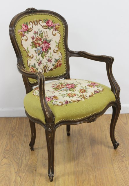 French Style Needlepoint Armchair