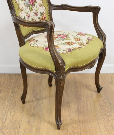 French Style Needlepoint Armchair - 2