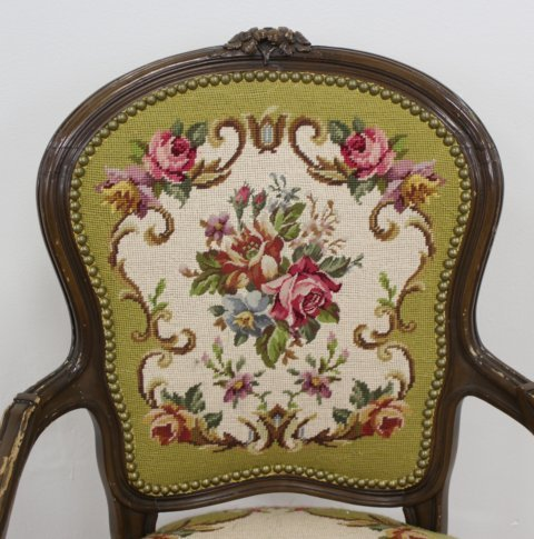 French Style Needlepoint Armchair - 3