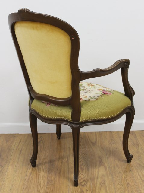 French Style Needlepoint Armchair - 4