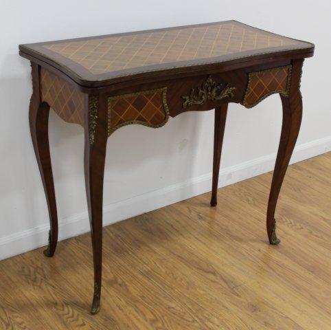 Louis XV Style Inlaid Mahogany Games Tables