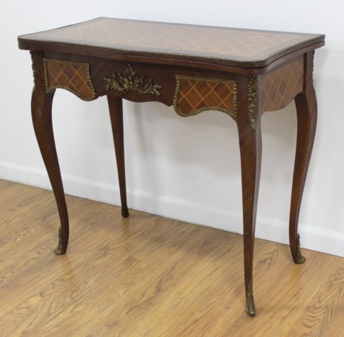 Louis XV Style Inlaid Mahogany Games Tables - 2