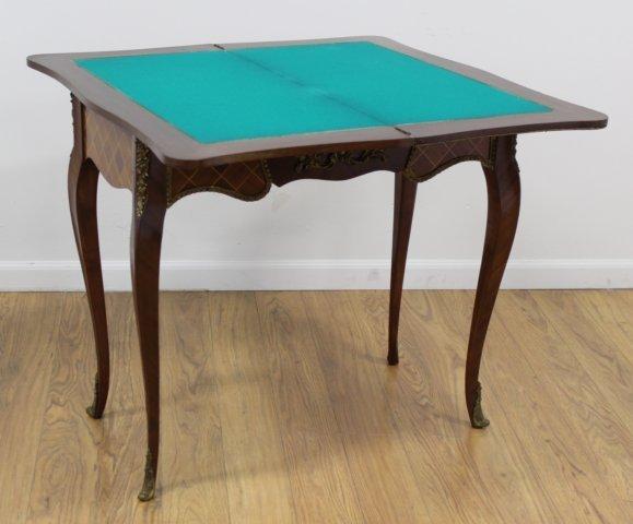 Louis XV Style Inlaid Mahogany Games Tables - 3
