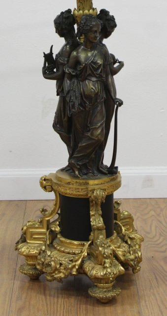 French Ormolu & Patinated Bronze Figural Gueridon - 2
