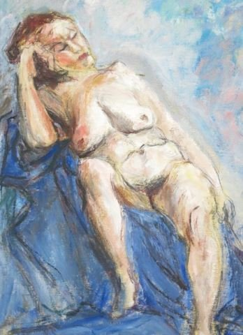 ":Ira Moskowitz, ""Blue Nude"" - 3"