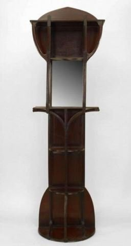 :English Art Nouveau Mahogany Dressing Stand