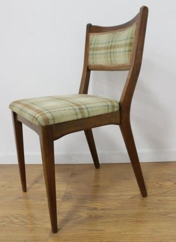 :Set 4 American Mid Century Walnut Dining Chairs - 2