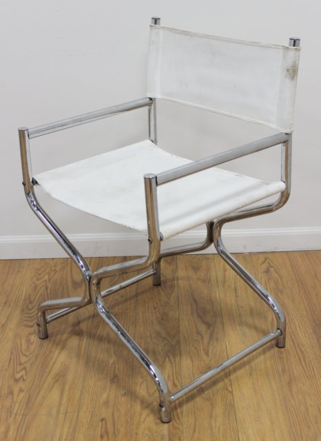 Pair 70s Chrome X-Form Chairs - 2
