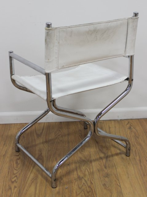 Pair 70s Chrome X-Form Chairs - 3