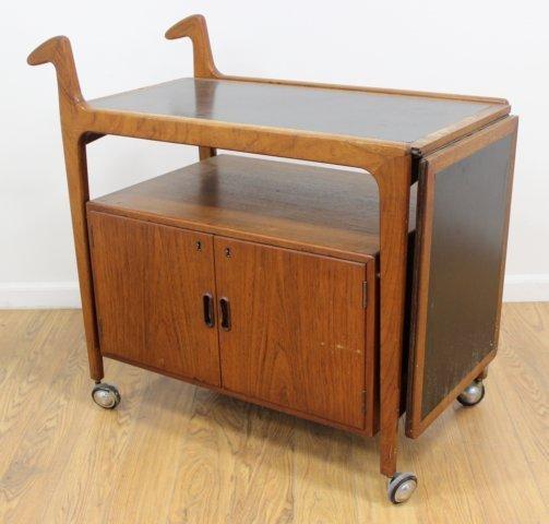 Danish Modern Teak Bar Cart