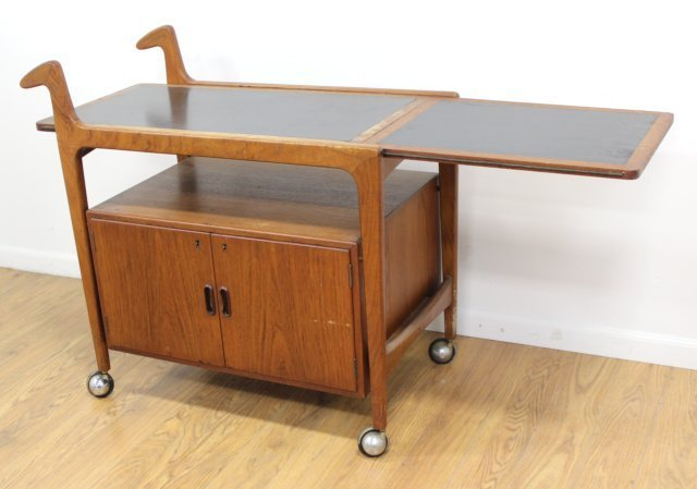 Danish Modern Teak Bar Cart - 2