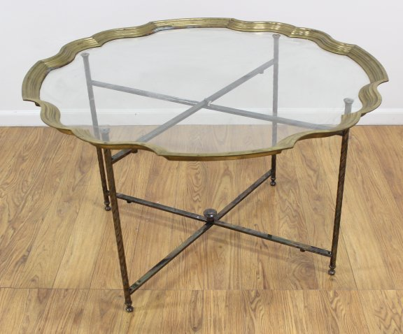 Brass & Silverplate Coffee Table