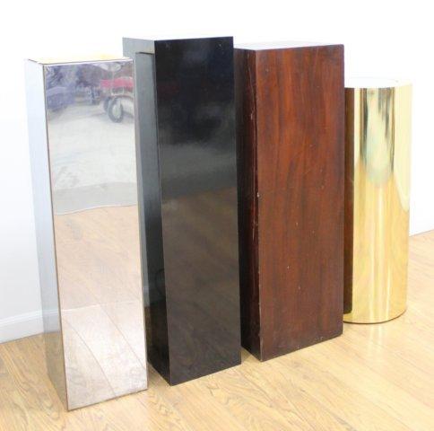 3 Mid Century Pedestals & 1 Mid Century Jardiniere - 2