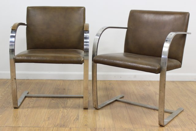 Set 4 Knoll Chrome Armchairs - 2