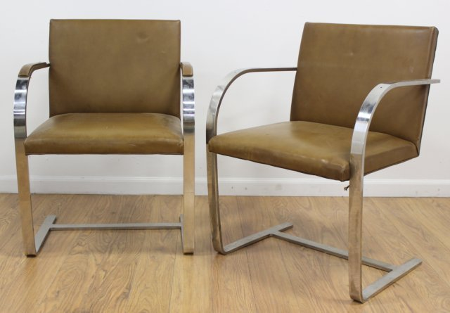 Set 4 Knoll Chrome Armchairs - 3