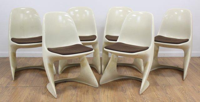 Set 6 Casala Plastic Armchairs