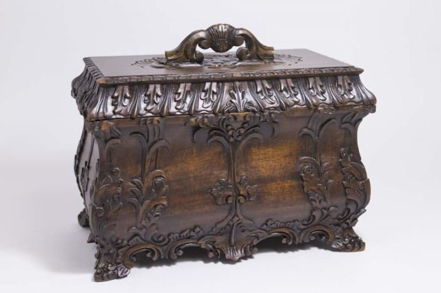 :Carved Covered Wooden Box