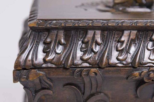 :Carved Covered Wooden Box - 2