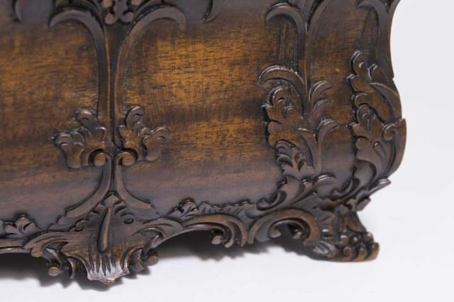 :Carved Covered Wooden Box - 3