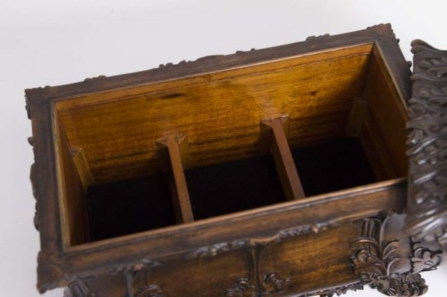 :Carved Covered Wooden Box - 5