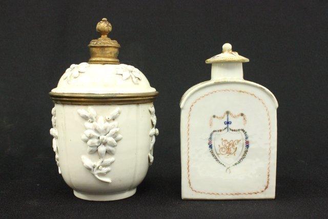 2 Antique European Porcelain Jars