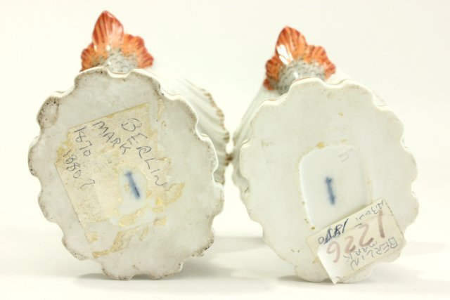 Pair 19th Cent. Old Berlin Porcelain Salt Cellars - 4
