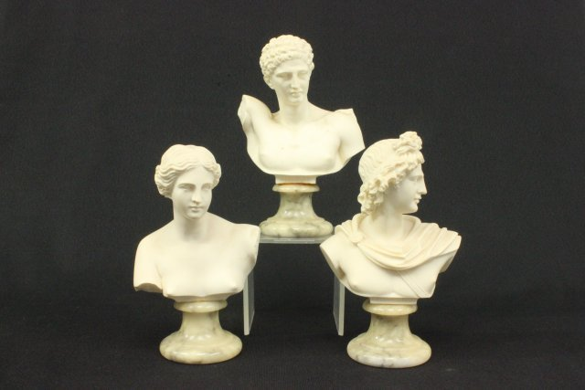 A. Gianelli, 3 Composite Neoclassic Busts