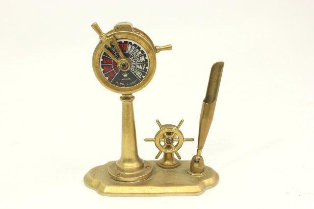 Brass Ship's Wheel Desktop Companion
