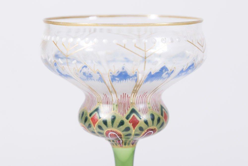 2 Enamelled Glass Goblets - 3
