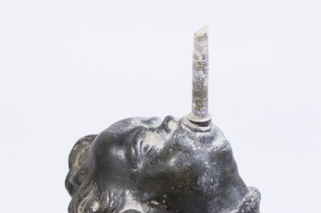 :White Metal Figure, Mercury on Marble Base - 7