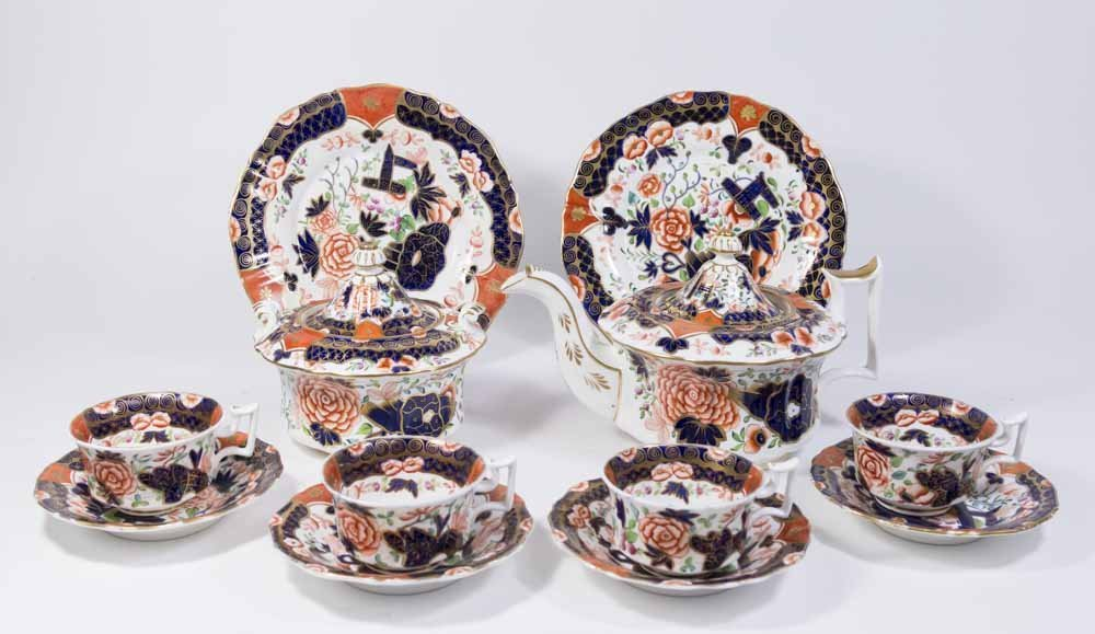 English/American Parcel Gilt Coffee Service