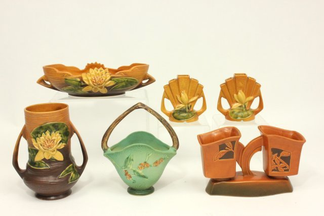 Collection of 6 Roseville Pieces