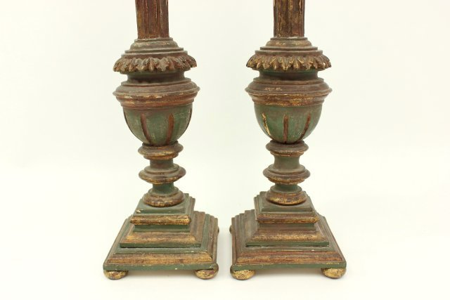 Pair 19th Century Giltwood Pricket Sticks - 3