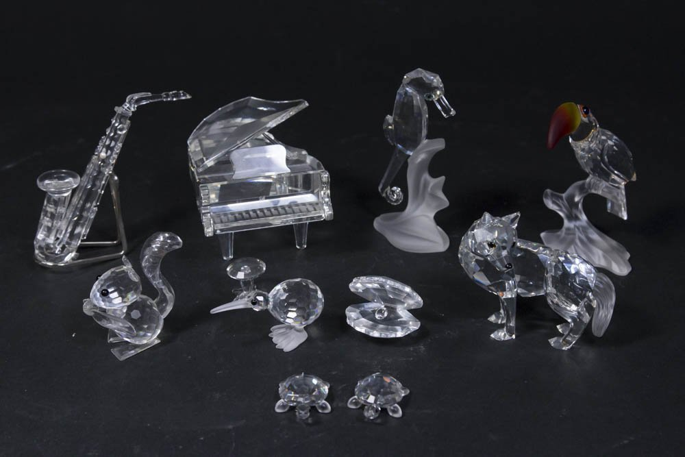 10 Swarovski Sculptures in Original Boxes