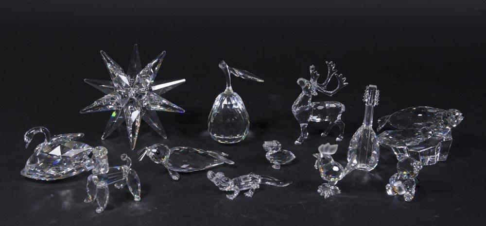 12 Swarovski Crystal Sculptures in Original Boxes