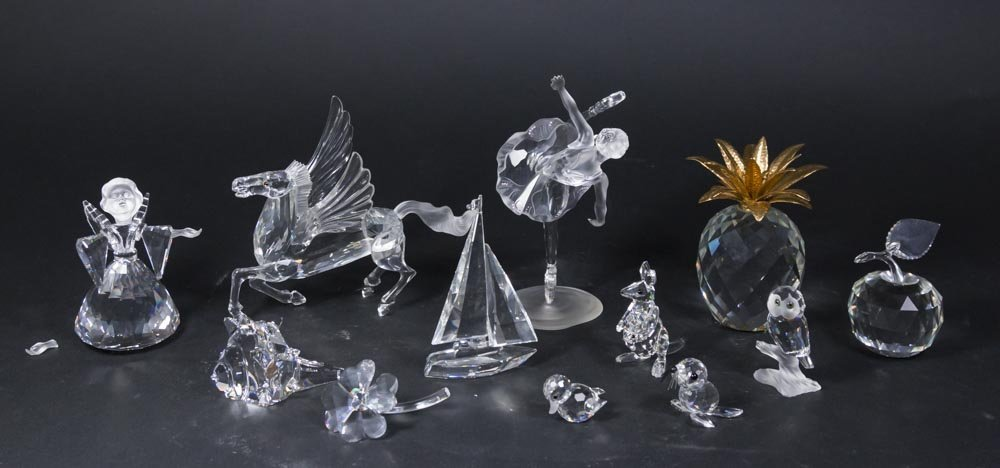 12 Swarovski Crystal Sculptures in Original Boxes