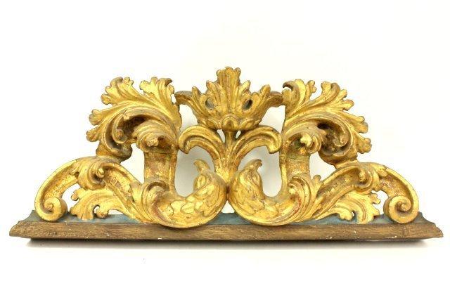 Pair Giltwood Frames & Gilt Architectural Element - 4