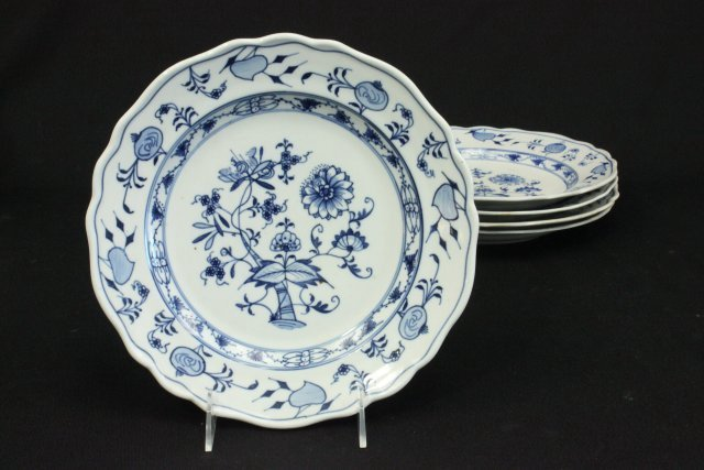 Group 14 Meissen Porcelain Plates & Soup Bowls - 2