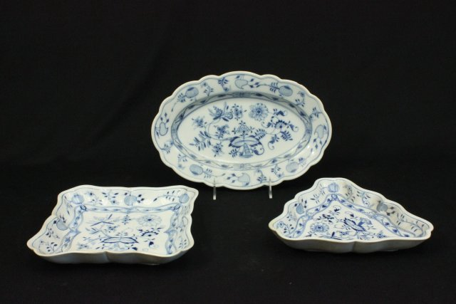 Group 14 Meissen Porcelain Plates & Soup Bowls - 3