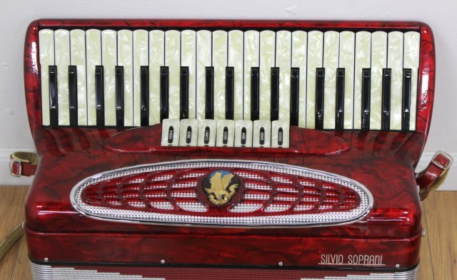 Silvio Soprani Red Pearlized Case Accordion - 2