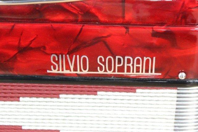 Silvio Soprani Red Pearlized Case Accordion - 3