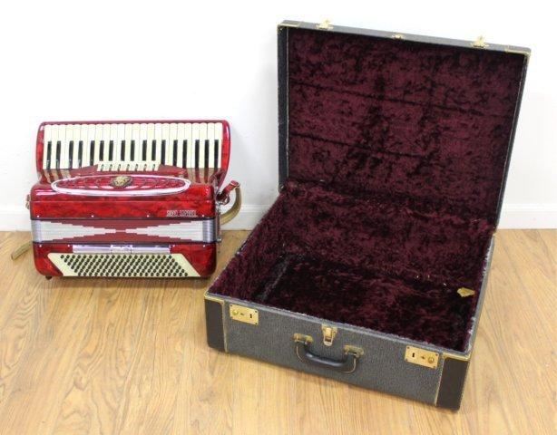 Silvio Soprani Red Pearlized Case Accordion - 7
