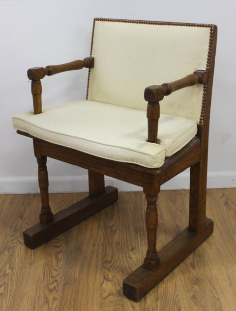 Spanish Baroque Style Chair & Oak Armchair - 3