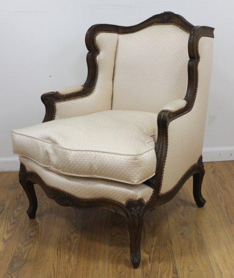 Pair Louis XV Style Beechwood Bergeres - 2
