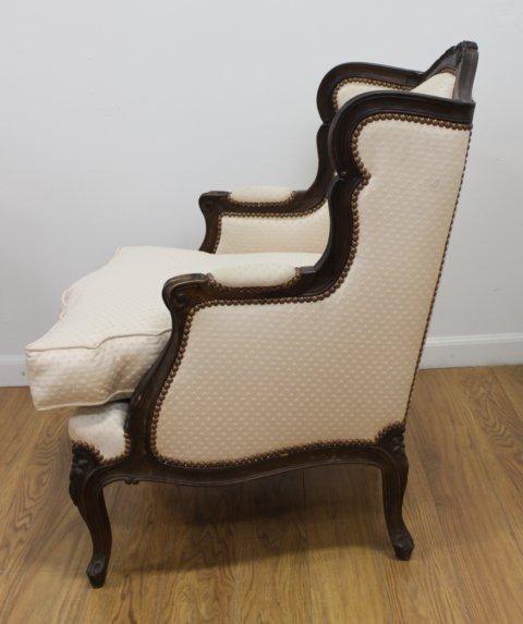 Pair Louis XV Style Beechwood Bergeres - 3